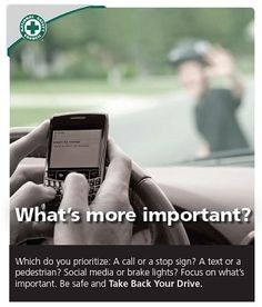 Distracted driving is vital. Distracted driving is any actions which could divert some one's attention away from your main job of forcing. Drive Safe Quotes, Drive Poster, Traffic Police, Distracted Driving, Safety Posters, Creative Advertising, Helping Others, Traveling By Yourself, Social Media