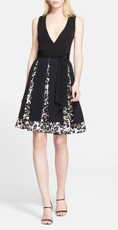 Pretty party dress. Totally saw this on House of DVF on E!