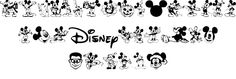 Mickey Mousebats font by Chris Pirillo - FontSpace Walt Disney, Disney Diy, Disney Crafts, Disney Dream, Disney Love, Disney Magic, Disney Style, Disney World Trip, Disney Vacations