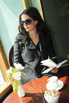 sunny day. book. cafe window . = bliss