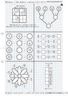 Dodawanie i odejmowanie w zakresie od 0 do 20   Drupal Iris Folding, Science For Kids, Fun Math, Worksheets, Education, Words, School, Math Games, Speech Language Therapy