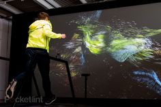 Nike combines a treadmill with a Kinect 2 sensor to create a dramatic effect