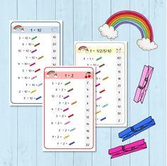 Regenbogen Klammerkarten zu den Kernaufgaben