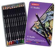 Puuvärikynä 12 väriä Derwent Studio