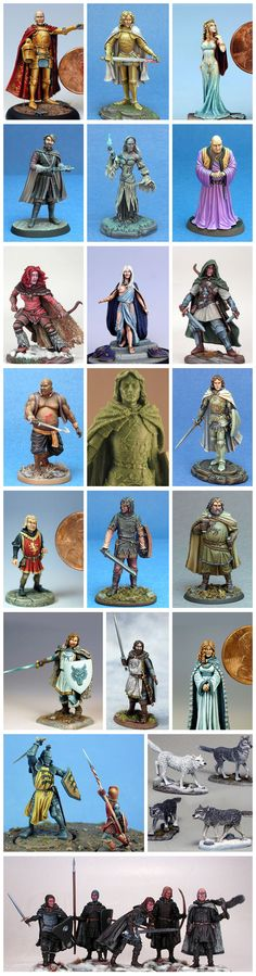 Dark Sword Miniatures : George R.R. Martin Masterworks Pewter Miniature range from the Song of Ice and Fire Book Series