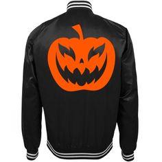 happy Halloween  | black and orange Halloween bomber jacket