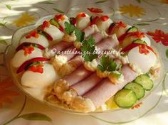 Easter Recipes, Appetizer Recipes, Appetizers, Cold Dishes, Eat Pray Love, Hungarian Recipes, Finger Foods, Sushi, Side Dishes