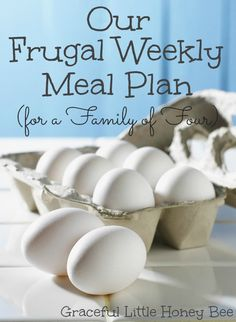 See our frugal weekly meal plan for a family of four.