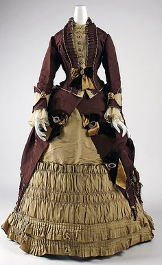 Visiting dress (image 1) | Emile Pingat | 1872 | French; Paris | silk | Metropolitan Museum of Art | Accession Number: 25.200a, b