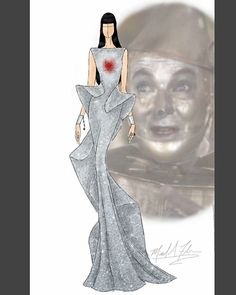 Michael Anthony - The Wizard of Oz Tin Man Arte Fashion, Couture Fashion, Fashion Design, Couture Style, Trendy Dresses, Nice Dresses, Fashion Dresses, Wrap Dresses, Dress Sketches