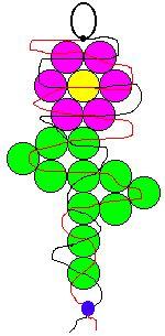pony bead patterns | ... lanyard hook or keyring 6 purple pony beads 11 green pony beads 1
