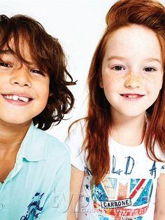 #Carbone #collectie_zomer_2013 #lova #model #Collectie_Carbone #kinderkleding #kindermodellen #rood_haar