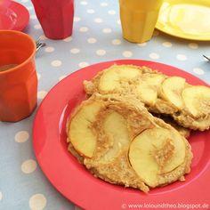 Rezept und Zutaten für Apfelpfannkuchen mit Haferflocken / www.loloundtheo.blogspot.de