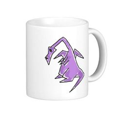 Funny Purple Dragon Mug #dragons #funny #mugs #purple #zazzle #petspower