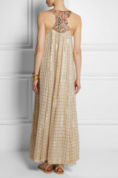 Vineet Bahl | Embroidered voile maxi dress | NET-A-PORTER.COM