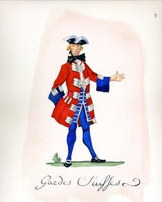 French Army 1735 - Gardes Suisses, by Gudenus.