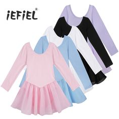 iEFiEL Beautiful long sleeve Ballet outfit for girls for only $7! Got two for my girls and it is simply super great! On AliExpress