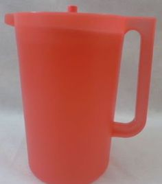 Tupperware Classic 1 Gallon Size Pitcher with Push Button Seal  Watermelon Guava Pink ** Want additional info? Click on the image.
