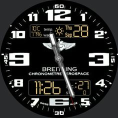 Pepp Br_ei_tling Aero_space by Lupetto972 Copy - WatchMaker for Android Wear, iPhone, Samsung Gear S2 & S3, Huawei, Moto 360, LG G Series!
