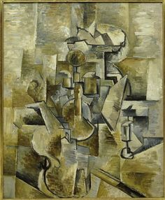 Violin and Candlestick, 1910, Georges Braque, Oil on Canvas, 60,96 cm x 50,17 cm San Francisco Museum of Modern Art  / Modern Art Modernism