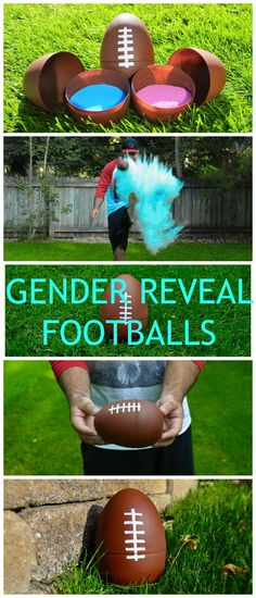 FOOTBALL GENDER REVEAL PARTY! Cute Gender Reveal Idea Baseball Gender Reveal, Gender Reveal Shirts, Ideas For Gender Reveal, Gender Party Ideas, Baby Reveal Party Ideas, Gender Reveal Parties, Gender Reveal Food, Baby Shower Gender Reveal, Gender Reveal Nails