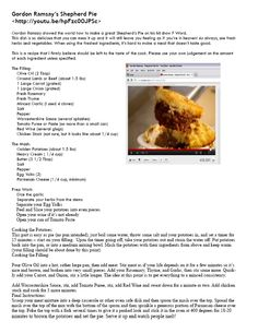 Gordon Ramsey's Shepard's/Cottage Pie You need to watch the YouTube video it is great!