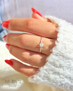 Hey, I found this really awesome Etsy listing at https://www.etsy.com/listing/249738126/white-opal-ringengagement-ring-solitaire