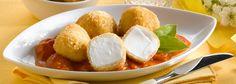 Ricotta frite à la romaine sur un lit de tomates fraîches et basilic Recette Moyenne   Il Gusto Italiano