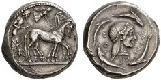 A Rare and Magnificent Greek Silver Tetradrachm of Syracuse (Sicily), Possibly the Finest Example Known of this Issue, the Kunstfreund Example | by Ancient Art