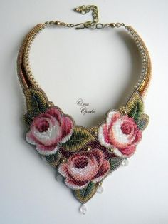 EyeCandy - Beautiful Bead Embroidery Creations by Olga Orlova featured in recent. Seed Bead Jewelry, Beaded Jewelry, Handmade Jewelry, Beaded Necklace, Seed Beads, Bead Embroidery Jewelry, Beaded Embroidery, Jewelry Crafts, Jewelry Art