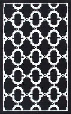 Moroccan Courtyard Black and White Rug from the Outdoor Rugs collection at Modern Area Rugs