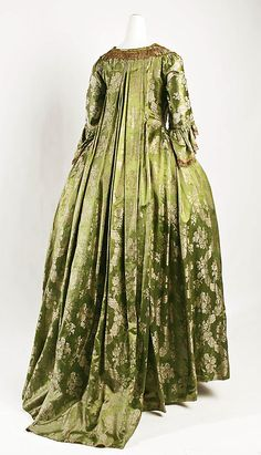 1750 Culture: French Medium: silk Credit Line: Gift of Mrs. Robert Woods Bliss, 1943 *change the colour and I would love it * 18th Century Dress, 18th Century Costume, 18th Century Clothing, 18th Century Fashion, Antique Clothing, Historical Clothing, Historical Costume, Historical Dress, Vintage Gowns