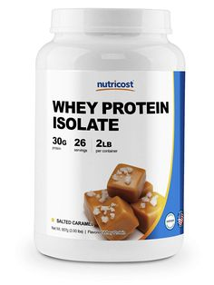 Nutricost Whey Protein Isolate Salted Caramel LBS) >>> Find out more about the great product at the image link. (This is an affiliate link) Whey Protein Isolate, Supplements For Women, Caramel, Image Link, Food, Salt Water Taffy, Toffee, Meal, Essen