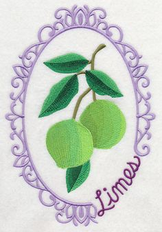 Fruit Cameo - Limes design (M6745) from www.Emblibrary.com