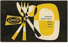 GENSE ROSTFRITT STAL MED STIL. [Gense Stainless Steel Flatware], 1955 Exhibition