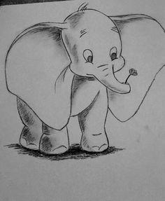 Quick sketch... Dumbo  Charcoal