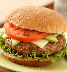 Avocado Monterey Jack give burgers West Coast flavor.