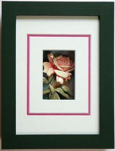 tiny pink rose made by Kazumi Iitaka