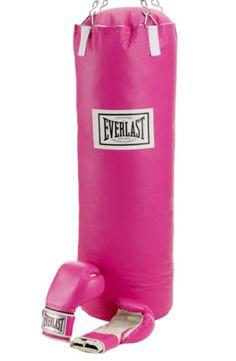 Pink Everlast boxing gloves & bag :)