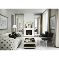 Minimal monochrome living room with leather sofa, fireplace and a mix of luxury textures by Kratki. Interior, Home, Bedroom Design, Monochrome Living Room, Living Room Interior, Small Bedroom, Narrow House Plans, Small Space Living, Cottage Living