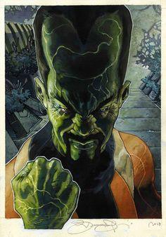 S BIANCHI MARVEL MASTERPIECES LEADER 0 Art - Trading Card Art - W.B. Marvel Villains, Marvel Comics Art, Hulk Marvel, Fun Comics, Marvel Heroes, Captain Marvel, Avengers, Ms Marvel, Black Comics