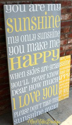 "Large, ""You are my Sunshine"""