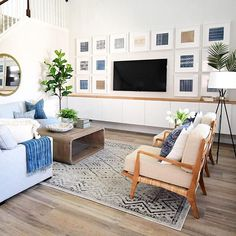 Saturday design inspo by I've been admiring the framed textile collection as well as all the rest! Decor Around Tv, Room Goals, Outdoor Furniture Sets, Outdoor Decor, Living Room Inspiration, Home Living Room, Home Goods, Family Room, New Homes