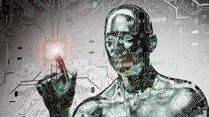 Poster of humanoid robot clicking network computer App Marketing, Humanoid Robot, Trends, Digital, Artwork, Mousepad, Robots, Articles, Posters