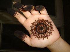 small henna tattoo