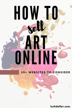 Let me show you how to sell art online and make money with websites. How to make money online with your art skills, regardless of how talented you are! Artwork Online, Online Painting, Online Art, Sell Paintings Online, Etsy Business, Craft Business, Creative Business, Business Tips, Make Money Online