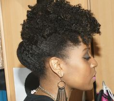 (Hair Style: Elegant Frohawk Variation Updo) Length: Medium/Chin Length
