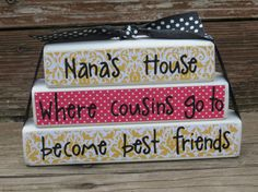 Grandmas House Block Stacker Mothers Day by DaisyBlossomCreation