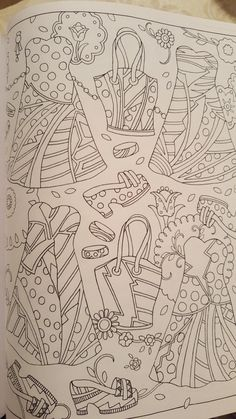 Amazon.com: Fanciful Fashions Coloring Book (9780983740445): Marjorie Sarnat: Books