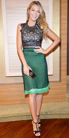 #BlakeLively definitely gave us something to envy in her chic green design. #lookoftheday http://www.instyle.com/instyle/lookoftheday/0,,,00.html